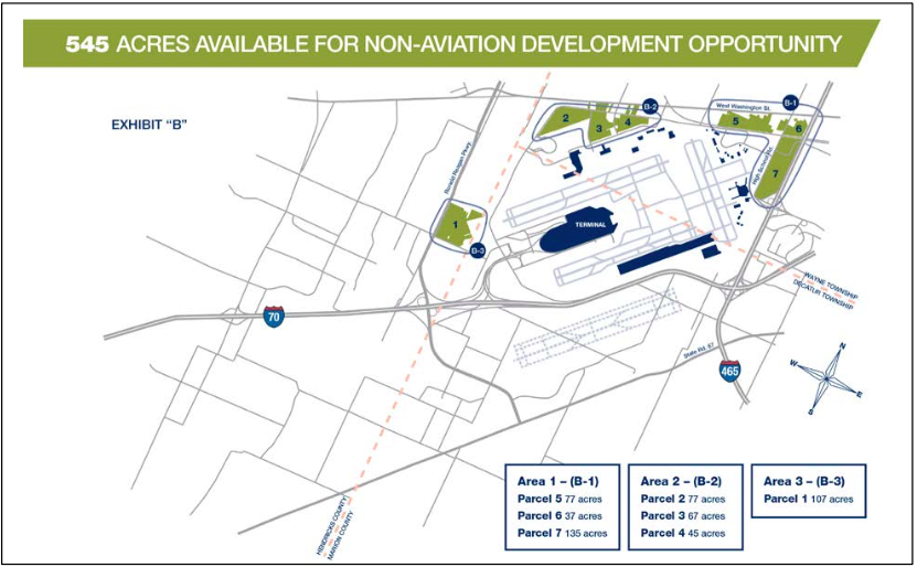 Ind Recruits Developers For 545 Indianapolis Airport Authority - Indianapolis-in-us-map